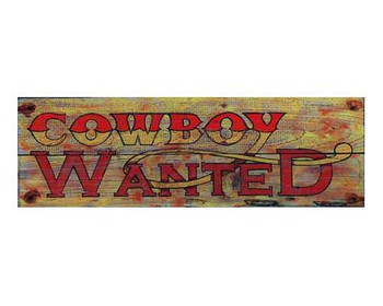Custom Cowboy Wanted Vintage Style Metal Sign