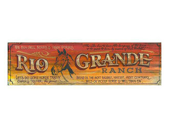 Custom Rio Grande Ranch Vintage Style Metal Sign