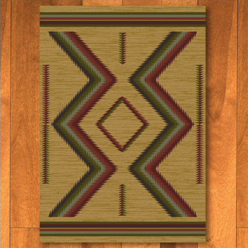 8' x 11' Hour Glass Fall Southwest Rectangle Rug