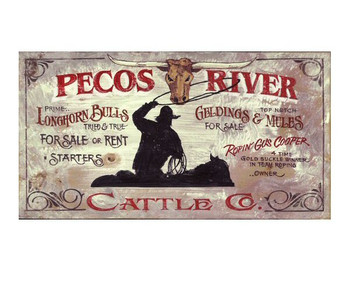 Custom Pecos River Vintage Style Metal Sign