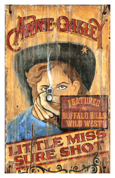 Custom Annie Oakley Vintage Style Metal Sign