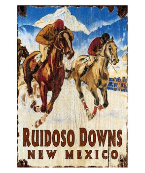 Custom Ruidoso Downs Horse Racing Vintage Style Metal Sign