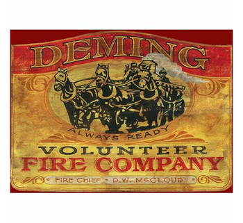 Custom Deming Fire Company Vintage Style Metal Sign