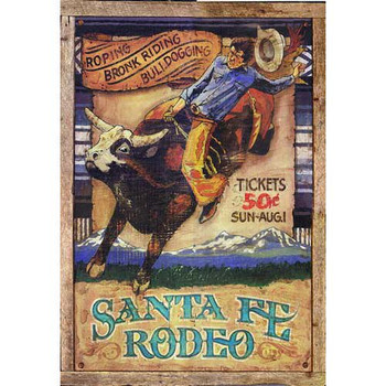 Custom Santa Fe Rodeo Vintage Style Metal Sign