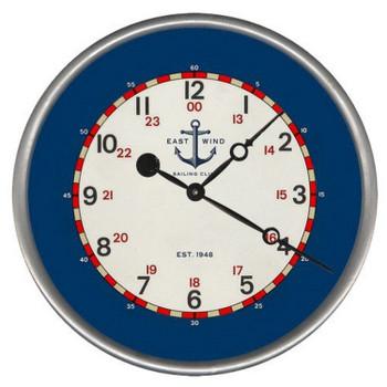 "15"" Custom East Wind Sailing Club Vintage Style Wood Sign Wall Clock"