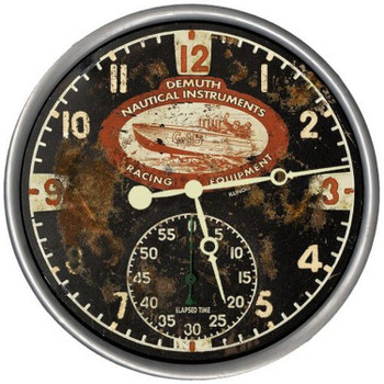 "15"" Custom Demuth Nautical Racing Vintage Style Wood Sign Wall Clock"