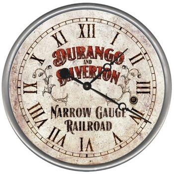 "15"" Custom Durango Silverton Railroad Vintage Style Wood Wall Clock"
