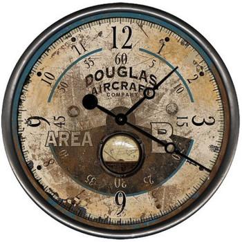 "15"" Custom Douglas Aircraft Vintage Style Wood Sign Wall Clock"