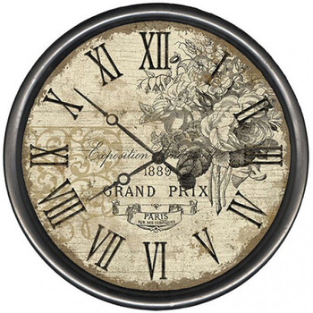 "15"" Custom Grand Prix Vintage Style Wooden Sign Wall Clock"