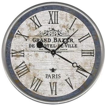 "15"" Custom Grand Bazar Paris Vintage Style Wood Sign Wall Clock"
