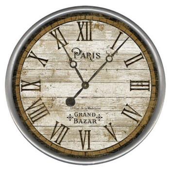 "15"" Custom Classic Paris Vintage Style Wood Sign Wall Clock"