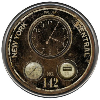 """23"""" Custom New York Central Vintage Style Wood Sign Wall Clock"""