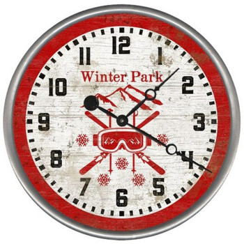 "15"" Custom Winter Park Ski Goggles Vintage Style Wood Sign Wall Clock"