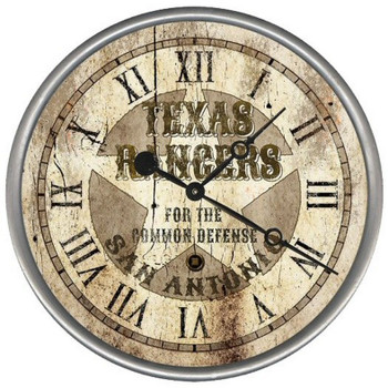 "15"" Custom Texas Rangers Vintage Style Wood Sign Wall Clock"
