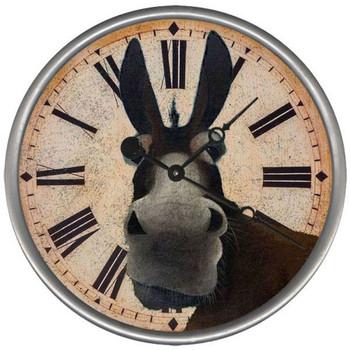 "15"" Custom Mule Vintage Style Wood Sign Wall Clock"
