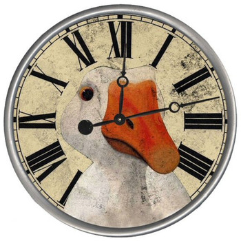 "15"" Custom Goose Vintage Style Wood Sign Wall Clock"
