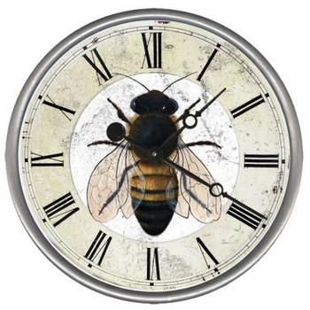 "15"" Custom Bee Vintage Style Wood Sign Wall Clock"