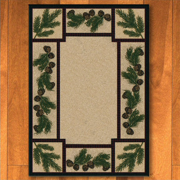 8' x 11' Valley Forest Nature Pinecones Rectangle Rug