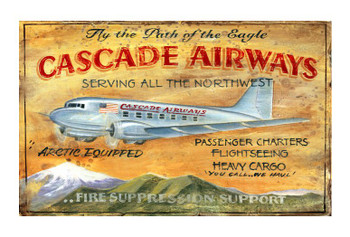 Custom Cascade Airways Vintage Style Wooden Sign