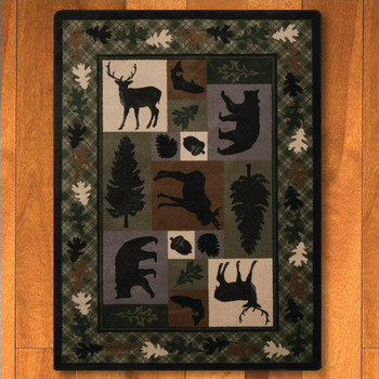 8' x 11' Wildlife Retreat Multi Animal Rectangle Rug