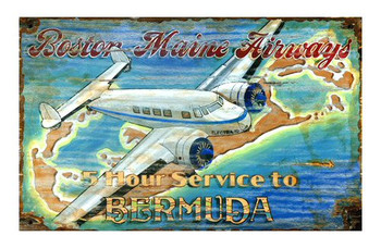 Custom Lockheed Airplane Vintage Style Wooden Sign