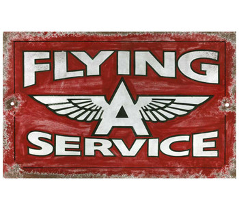 Custom Flying A Service Station Vintage Style Wooden Sign