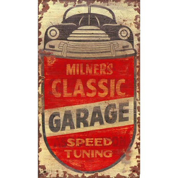 Custom Milners Classic Garage Vintage Style Wooden Sign