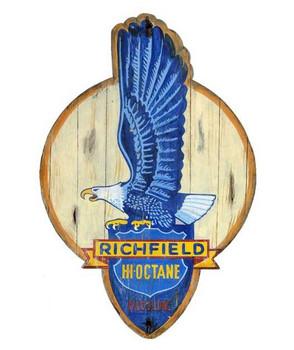 Custom Richfield Gasoline Eagle Vintage Style Wooden Sign