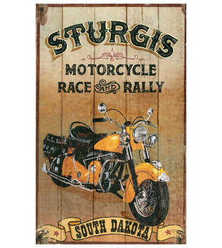 Custom Sturgis Motorcycle Vintage Style Wooden Sign