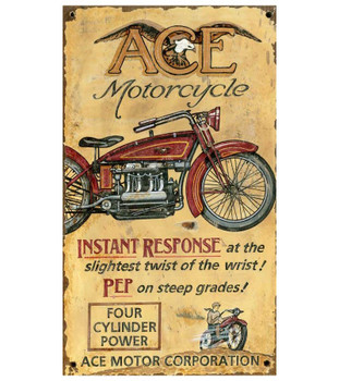 Custom Ace Motorcycle Vintage Style Wooden Sign