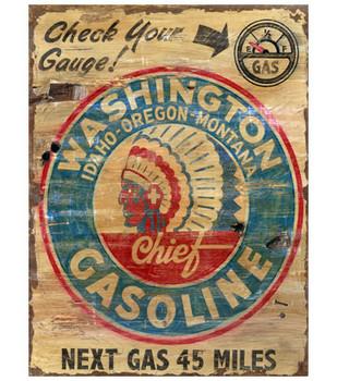 Custom Large Washington Gas Vintage Style Wooden Sign