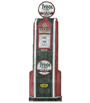 Custom Tydol Gas Pump Cutout Vintage Style Wooden Sign