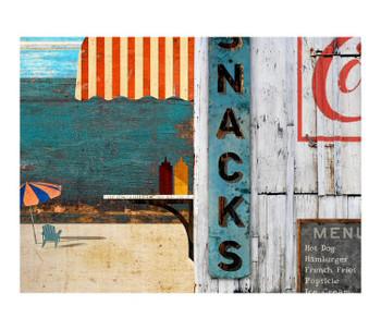 Custom Beach Menu Vintage Style Wooden Sign