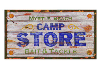 Custom Myrtle Beach Camp Store Vintage Style Wooden Sign