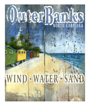 Custom Outer Banks Beach Vintage Style Wooden Sign