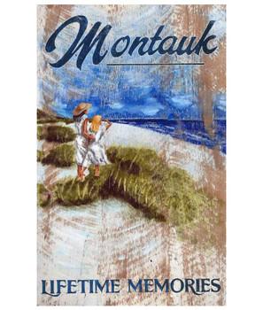 Custom Montauk New York Beach Vintage Style Wooden Sign