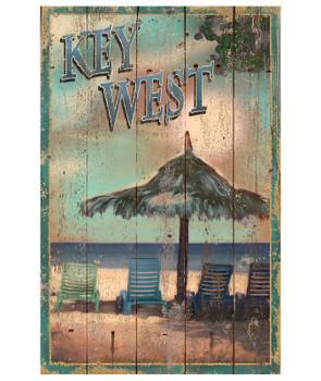 Custom Key West Beach Vintage Style Wooden Sign