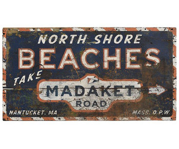 Custom North Shore Beaches Vintage Style Wooden Sign