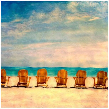 Custom Chairs on a Golden Beach Vintage Style Wooden Sign