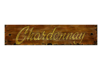Custom Chardonnay Vintage Style Wooden Sign