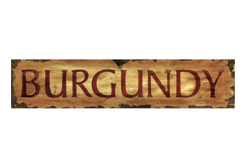 Custom Burgundy Vintage Style Wooden Sign