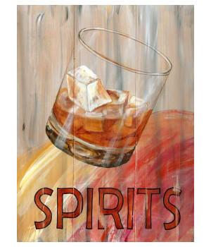 Custom Spirits Cocktails Vintage Style Wooden Sign