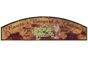 Custom Rosettis Vineyard and Chateau Vintage Style Wooden Sign