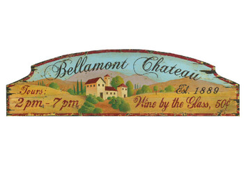 Custom Bellamont Chateau Vintage Style Wooden Sign