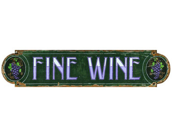 Custom Fine Wine Vintage Style Wooden Sign