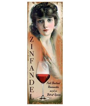 Custom Miss Zinfandel Wine Vintage Style Wooden Sign
