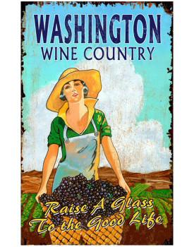 Custom Grape Harvest Vintage Style Wooden Sign