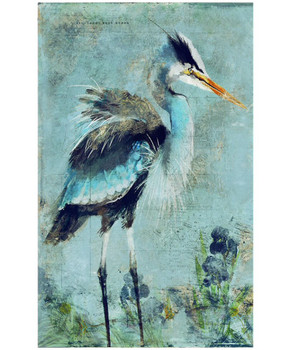 Custom Great Blue Heron Vintage Style Wooden Sign