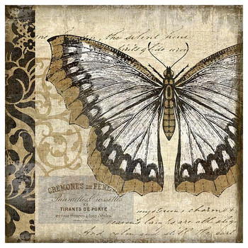 Classic Butterfly I Vintage Style Wooden Sign