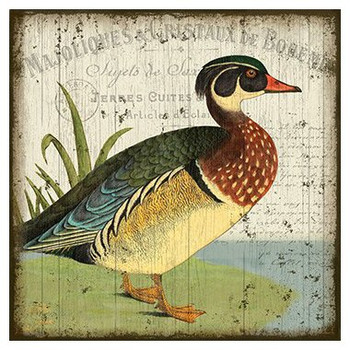 French Style Duck I Vintage Style Wooden Sign